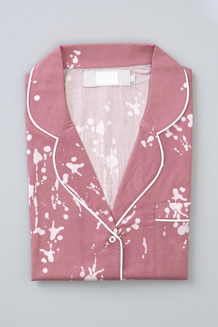 SHORT PJs - INK SPLATTER/ROSE